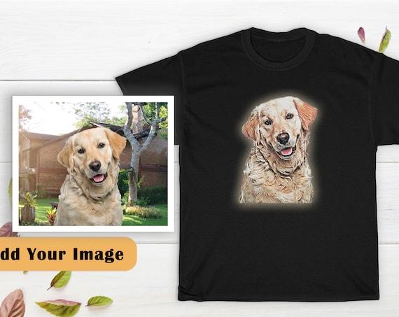 Custom Dog Portrait Shirt, Custom Pet Portrait Shirt, Dog portrait T-shirt, Pet Portrait Shirt, Dog Lover Gift, Personalized Shirt, Cotton