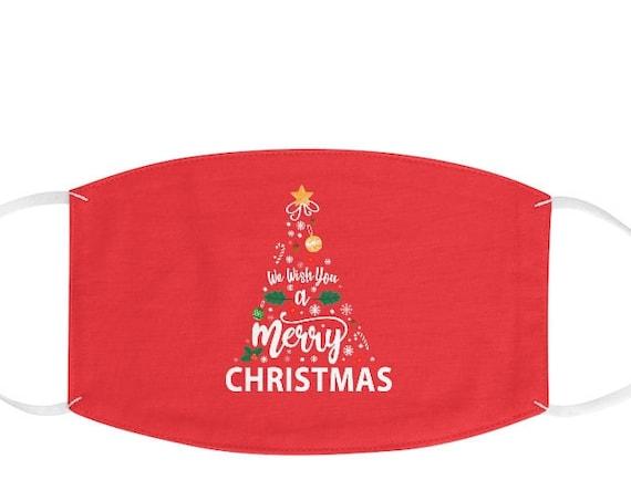 Christmas Tree Mask, Merry Christmas Face Mask, Christmas Face Mask, Christmas Gift, Adjustable Face Mask, Reusable Mask, Fabric Face Mask