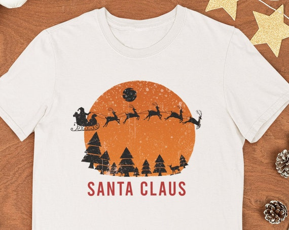 Santa Claus Shirt, Vintage Santa Shirt, Christmas Gift, Merry Christmas, Christmas Shirt, Quarantine Christmas, Christmas Tree, Cotton