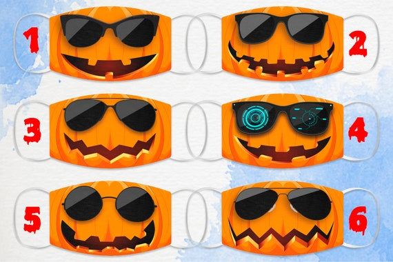 Halloween Face Mask, Pumpkin Face Mask, Cool Pumpkins, Halloween Gifts, Reusable, Washable Face Mask, Adult Face Mask, Horror Face Mask