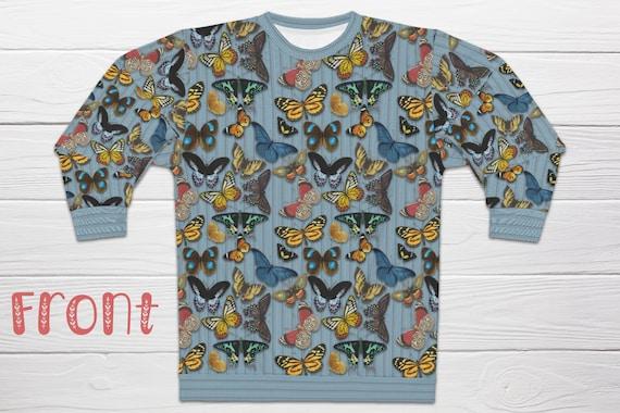 Butterfly Sweatshirt, Vintage Butterflies Sweatshirt