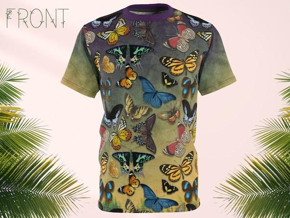 Butterflies Shirt, Vintage Butterfly Shirt