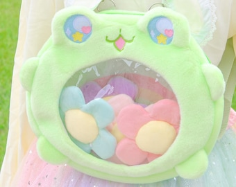 Magical froggy bag, Kawaii bag, cute Stuffed Animal Plush, Women Plush Bag, Cute Purse For Her, lolita bag, Harajuku , Kawaii Aesthetic