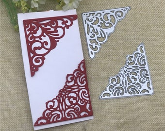 Stencil DIY Cards Lace Corners Envelope Cutting DieCut Emboss