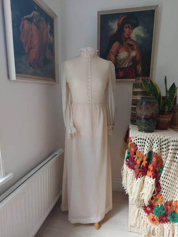 Dollyrockers Rare Vintage 1960s Dress / White / Ma
