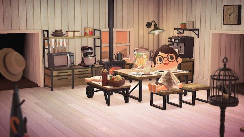 Animal Crossing Meubles Ironwood Kitchen Set Meubles ACNH ... on Animal Crossing Ironwood Kitchen  id=39760
