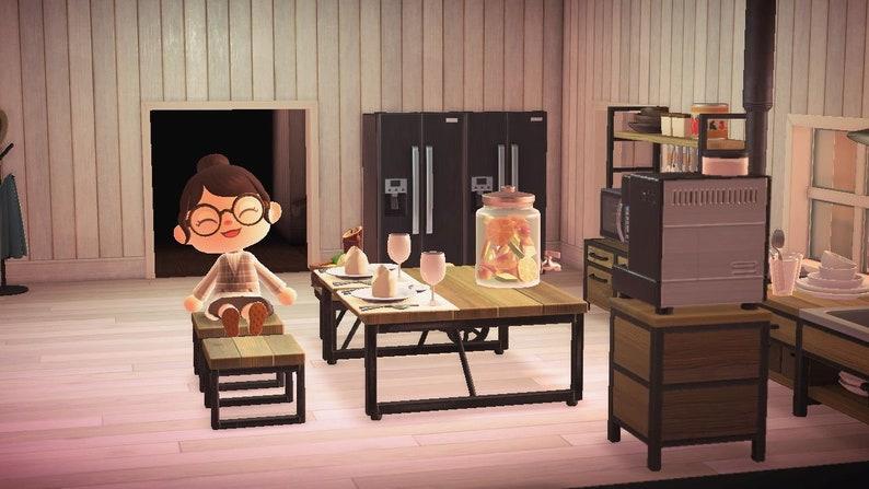 Animal Crossing Meubles Ironwood Kitchen Set Meubles ACNH ... on Ironwood Kitchen Animal Crossing  id=52361