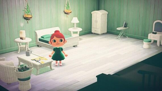 Animal Crossing Acnh Rattan Furniture Set Beach House Room Etsy