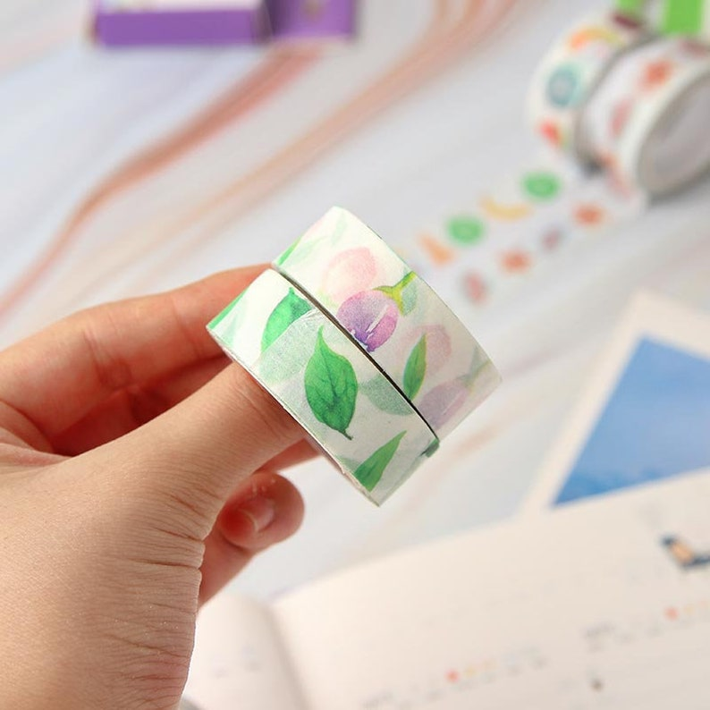 Blooming flowers Washi Tape adhesive crafts tape crafting project washi tape bullet journal supplies planner tape traveller book CH-TP-004