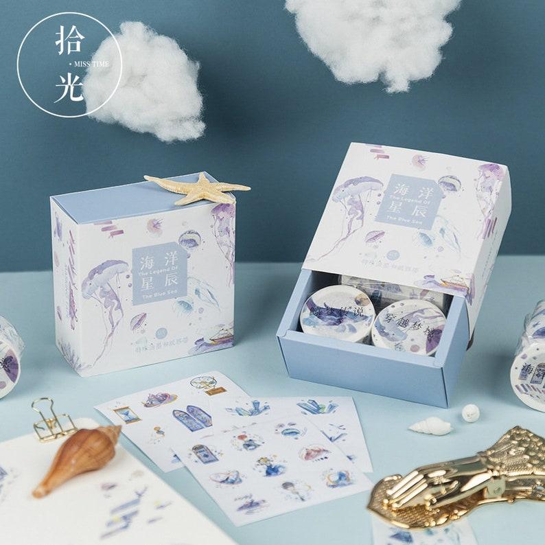 Imperial style washi tape landscape washi tape  ocean washi tape starry sky washi tape flower washi tape blossom washi tape-CH-TP-012