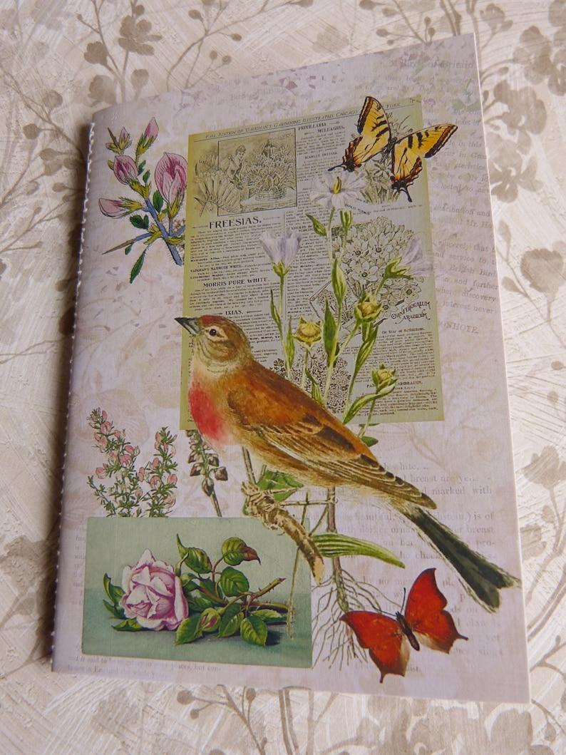 Handmade Folder containing Ephemera Size 8 inches x 5.5 inches