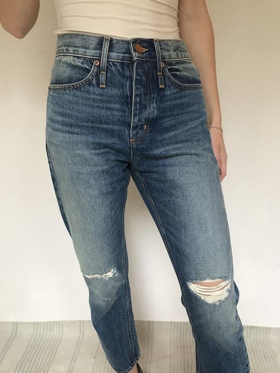 Womens mom jeans, designer jeans, new, size UK 8