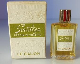 Sortilege Le Galion Parfum De Toilette 9 cm3  ,1/3fl.oz vintage miniature 9 ml