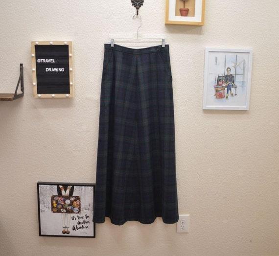 Vintage Lauren Wool Full Maxi Skirt 8 - image 1