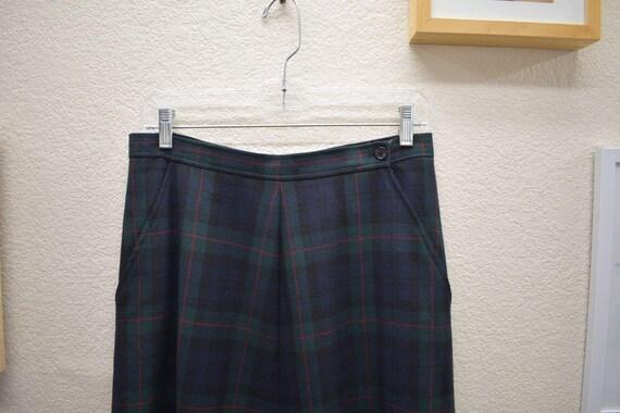 Vintage Lauren Wool Full Maxi Skirt 8 - image 3