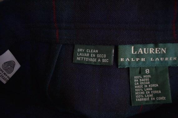 Vintage Lauren Wool Full Maxi Skirt 8 - image 5
