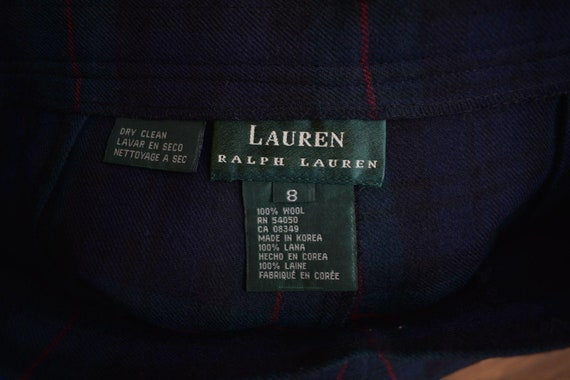 Vintage Lauren Wool Full Maxi Skirt 8 - image 4