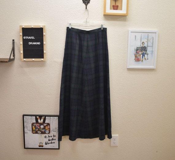 Vintage Lauren Wool Full Maxi Skirt 8 - image 2