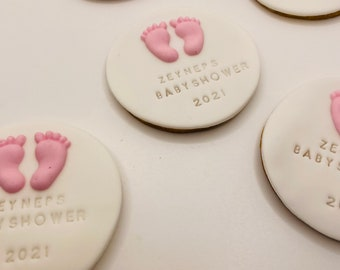 Babyshower biscuits personalized