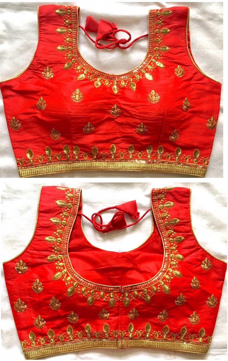 Stunning New Ready Made Stitched Embroidered Saree Sleveeless Blouses,Ready to wear blouses