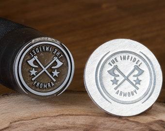 Custom Knife Makers Mark Stamp Makers Mark Knife Stamp Blacksmith Stamp Custom Touchmark Stamp Blade Stamp Hand Stamp Steel Stamps for Knife
