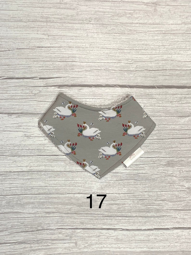 Bandana bib with towelling back for baby up to 3 years