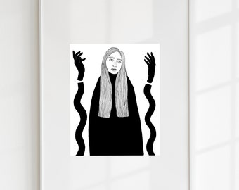 """Limited edition, signed glicée print """"The Good Witch"""""""