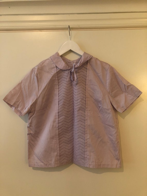 1950s lilac blouse