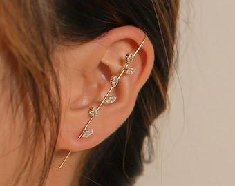 ear cuff \u2022 bold ear cuff \u2022 statement ear cuff \u2022  floral imprint \u2022 big ear cuff \u2022 bold earcuff \u2022 big earcuff