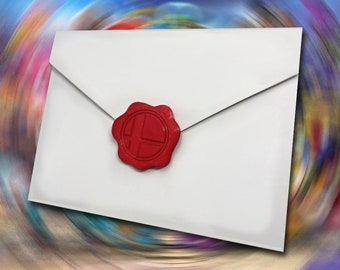 3D printed Super Smash Invitation Plastic Imitation Wax Seals Stamps 6 Pack (Envelope not included)
