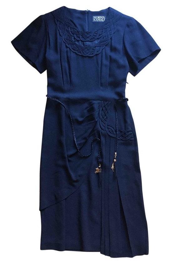 Norma Kamali black midi dress
