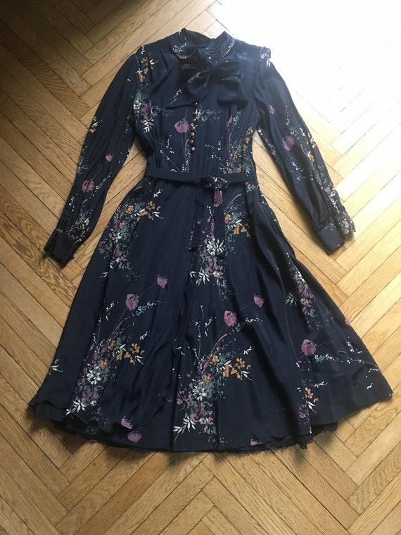 40's silk dress