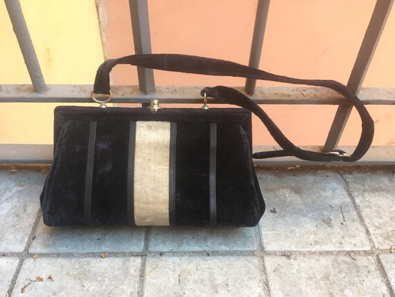 50's Velvet bag