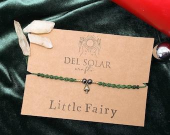 "Filigree necklace ""little fairy"" - fairy, forest, makramee chain, woodland, micromacrame, mushroom"