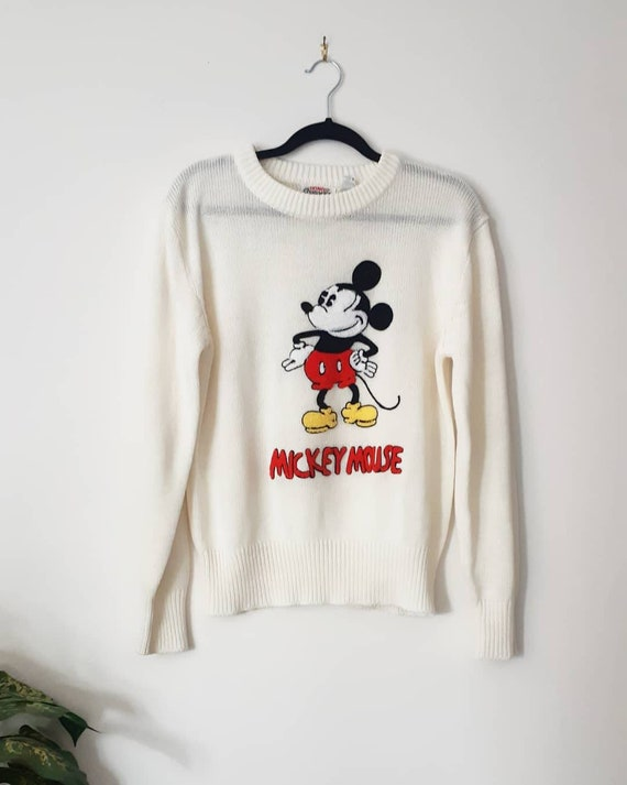 70s Mickey Mouse Sweater 100% Acrylic