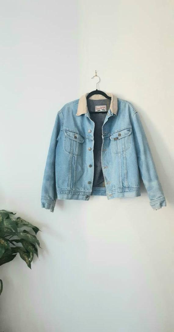 1980's Lee Storm Rider Lined Denim Jacket