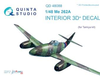 Quinta studio's QD48088 1/48 Me-262A 3D-Printed & coloured interior (for Tamiya kit)