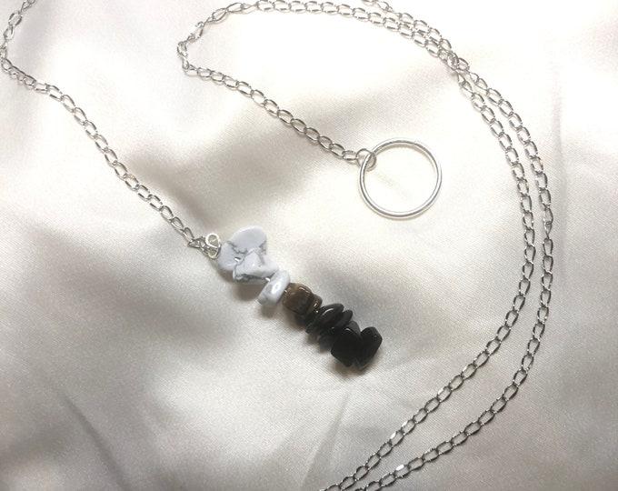 Crystal Healing Sliding Necklace CUSTOMIZABLE adjustable, custom, choker
