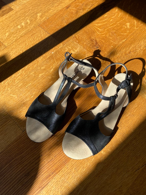 Repetto Leather Sandals in Black