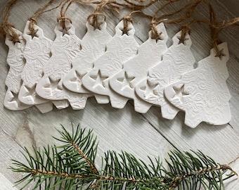 Minimalist Christmas decorations, Set of 3 Christmas tree ornaments, Scandinavian Christmas decor, Rustic Christmas decor, Nordic Christmas