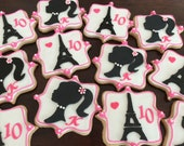 Barbie in Paris sugar cookies, barbie cookies, paris themed cookies, paris birthday, eiffel tower sugar cookies, personalized sugar cookies
