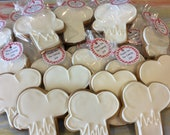 Chef's Hat Sugar Cookies, baking party, culinary school graduation, cooking party, foodie party