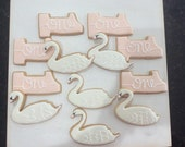 Swan & Number One sugar cookies for first birthday, First birthday, First birthday decor cookies, Iced sugar cookies for first birthday