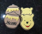 Winnie the pooh sugar cookies, winnie the pooh baby shower, disney baby, disney inspired, babyshower favor, first birthday, dessert table