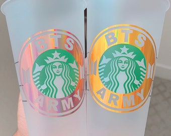 BTS Army Starbucks Tumbler Cup | Personalized Tumbler Cup | Perfect Gift for BTS Lovers