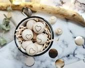 Wooden balls wooden ball wooden bead engraved engraved wooden balls heart