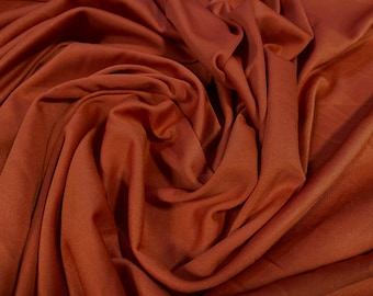 Single jersey polyester fabric - 60 inches wide - plain - Burnt Orange