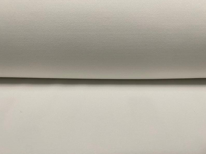 per metre Ottoman fine rib Lycra jersey fabric white