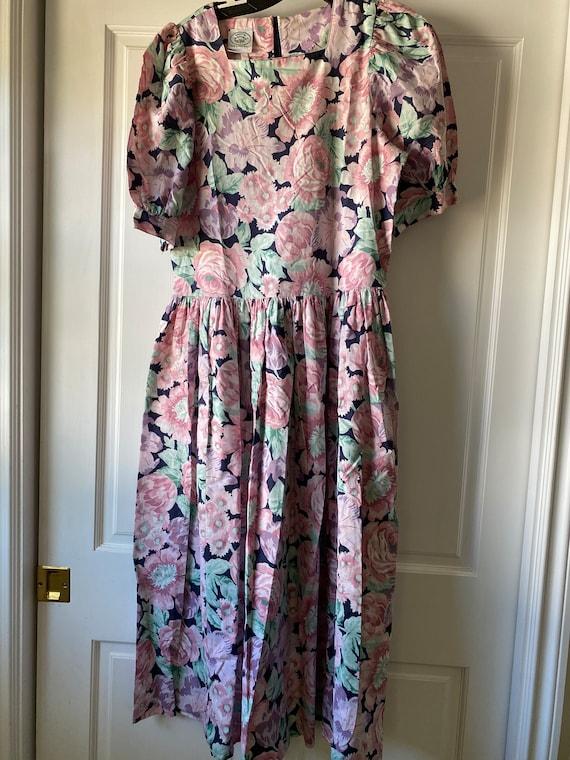 Laura Ashley Vintage Floral Dress - Size 12 (US) /