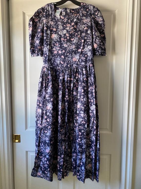 Laura Ashley Floral Vintage Dress - Size 12 (US) /